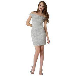 Black Halo Jackie O Off Shoulder Mini Dress